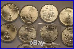(Lot of 16) 1976 Canadian/Montreal XXI Olympics Comm. SILVER Coins, Uncirculated