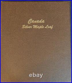 Lot of 31 1988-2020 $5 1 oz Canadian Silver Maple Leaf Coins withDansco album
