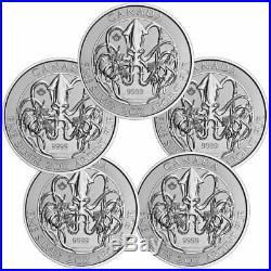 Lot of 5 2020 Canada The Kraken Creatures North 2 oz Silver $10 SKU60672