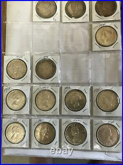 Lot of Canada silver dollars 23 pieces of different years, nice coins