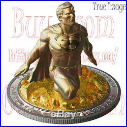 Low COA #0051 2018 Superman Last Son of Krypton $100 Pure Silver Sculpture Coin