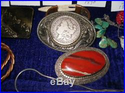 Native American Sterling Silver Jewelry LoT COINS ALASKA CANADA TOTEM POLE ++