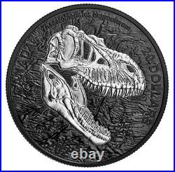 New Canada Rhodium-Plated $20 Coin 1 Oz Silver DISCOVERING DINOSAURS, 2021
