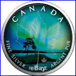 Northern Lights Set Of 6 Coins 1 Oz Silver Coin Canadian Maple Leaf 2018