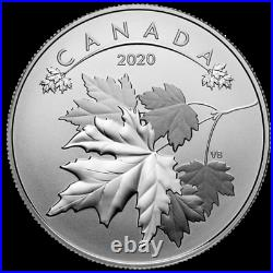 O Canada Series Maple Leaf, Pure Silver 10 Dollars Coin, $10 UNC, 2020