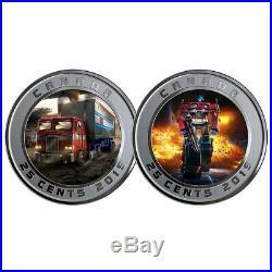 Optimus Prime Transformers 2019 Silver & Lenticular Coin Set Rcm