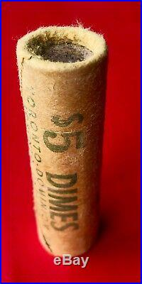 Original Bank Roll 1964 Canada Silver 10 Cent Dime Coins TD Bank Toronto