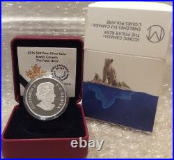 Polar Bear Iconic 2016 Masters Club Coin $20 1OZ Silver Proof Coin Canada l'Ours