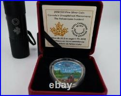 RARE NEW FALCON LAKE UFO INCIDENT 1 Oz Glow In The DARK Silver Coin Canada 2018