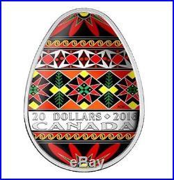 Rare 2016 Pysanka $20 Silver Egg Coin Canada