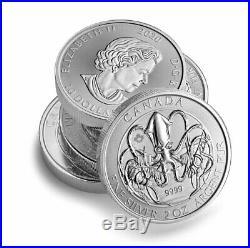 Roll of 14 2020 Canada The Kraken Creatures North 2 oz Silver $10 SKU60673