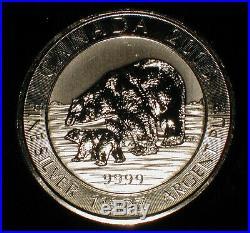 Roll of 15 2015 1.5 oz Canada Silver Polar Bear $8 Coin. 9999 Fine Mint Sealed