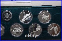 Royal Canadian Mint 1988 Calgary Olympics 10 OZ Silver Commemorative Coin Set