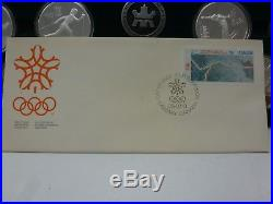 Royal Canadian Mint 1988 Calgary Olympics $20 silver coin Set 10 Coins 10oz COA
