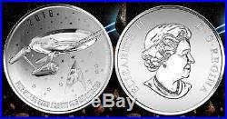 STAR TREK ENTERPRISE $20 COIN Pure Silver 2016