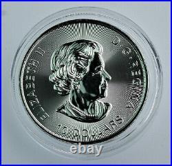 Scarce 2020 2 oz. 9999 silver Canadian Twin Maple Leaf coin BU in capsule