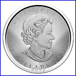Silver Maple Leaf W Mint Mark 2021 $5 1 Oz Fine Silver Coin Rcm Winnipeg