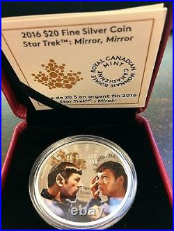 Star Trek Mirror Mirror $20.9999 1 oz. Silver coin from the Royal Canadian Mint