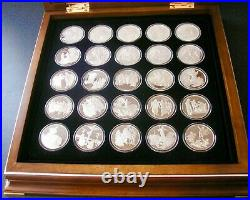 Sterling Silver Medal Coin Set THE LIFE OF CHRIST Franklin Mint (1990) 23g