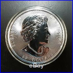 TEN OUNCES 2017 $50 Canada 10 oz. 9999 Fine Silver Grizzly Bear Coin withCapsule