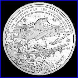 THE BOMBING WAR SECOND WORLD WAR BATTLEFRONT SERIES 2017 Fine 1 oz Silver Coin