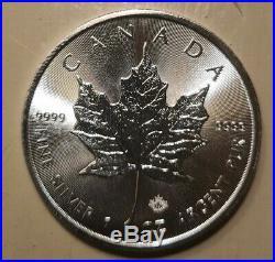TUBE Maple Leaf 25 x 2019 Canadian 1 oz Silver Bullion Coin Brand new uncirc