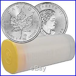 TUBE of 25 x 2019 Canadian Maple Leaf 1 oz Silver Bullion Coin Brand new