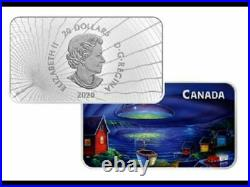 UFO COIN 2020 CANADA The Clarenville Event Glow-In-The-Dark $20 1oz Pure Silver