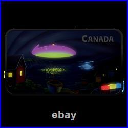 UFO Coin 2020 Canada The Clarenville Event Glow-In-The-Dark 1 oz. Pure Silver