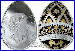Vegreville Ukrainian Pysanka Proof Silver Coin $20 Canada 2019